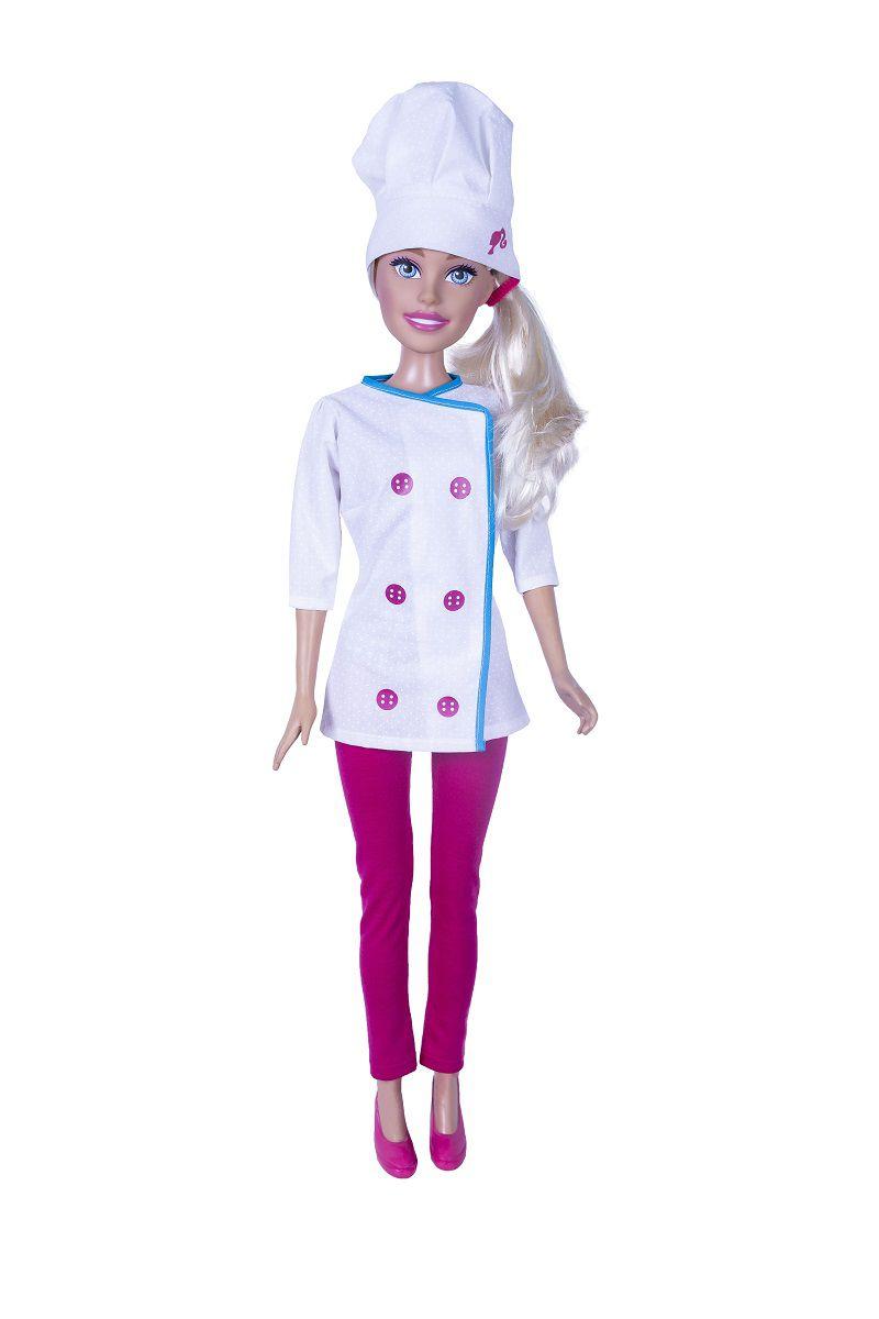 Boneca Barbie 70cm Profissões Chef De Cozinha - 1253