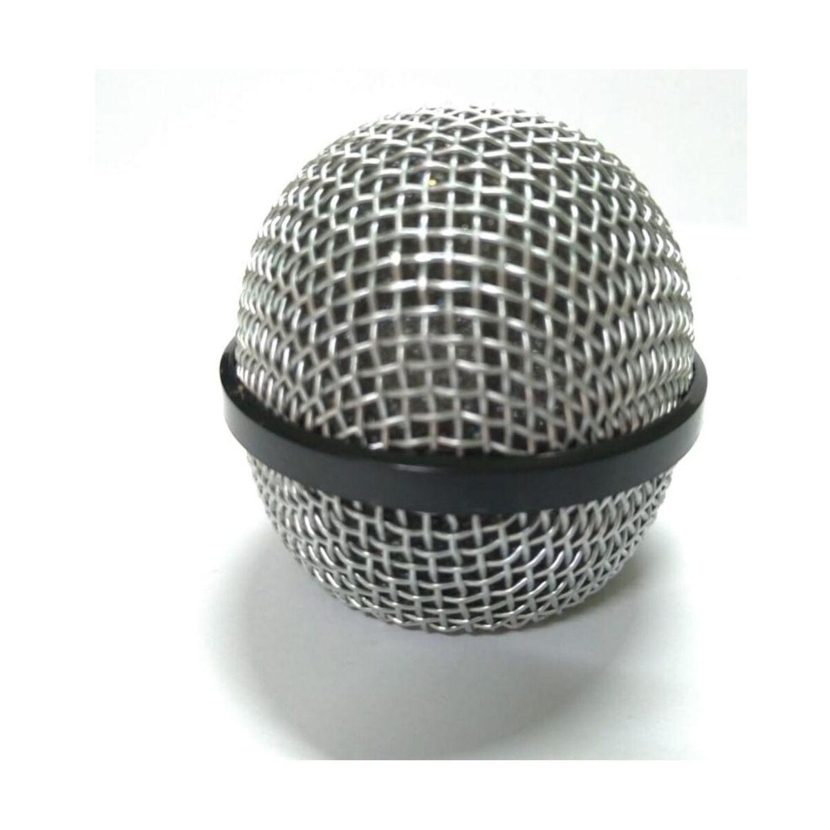 Cabeça De Microfone Profissional Revestida Globo