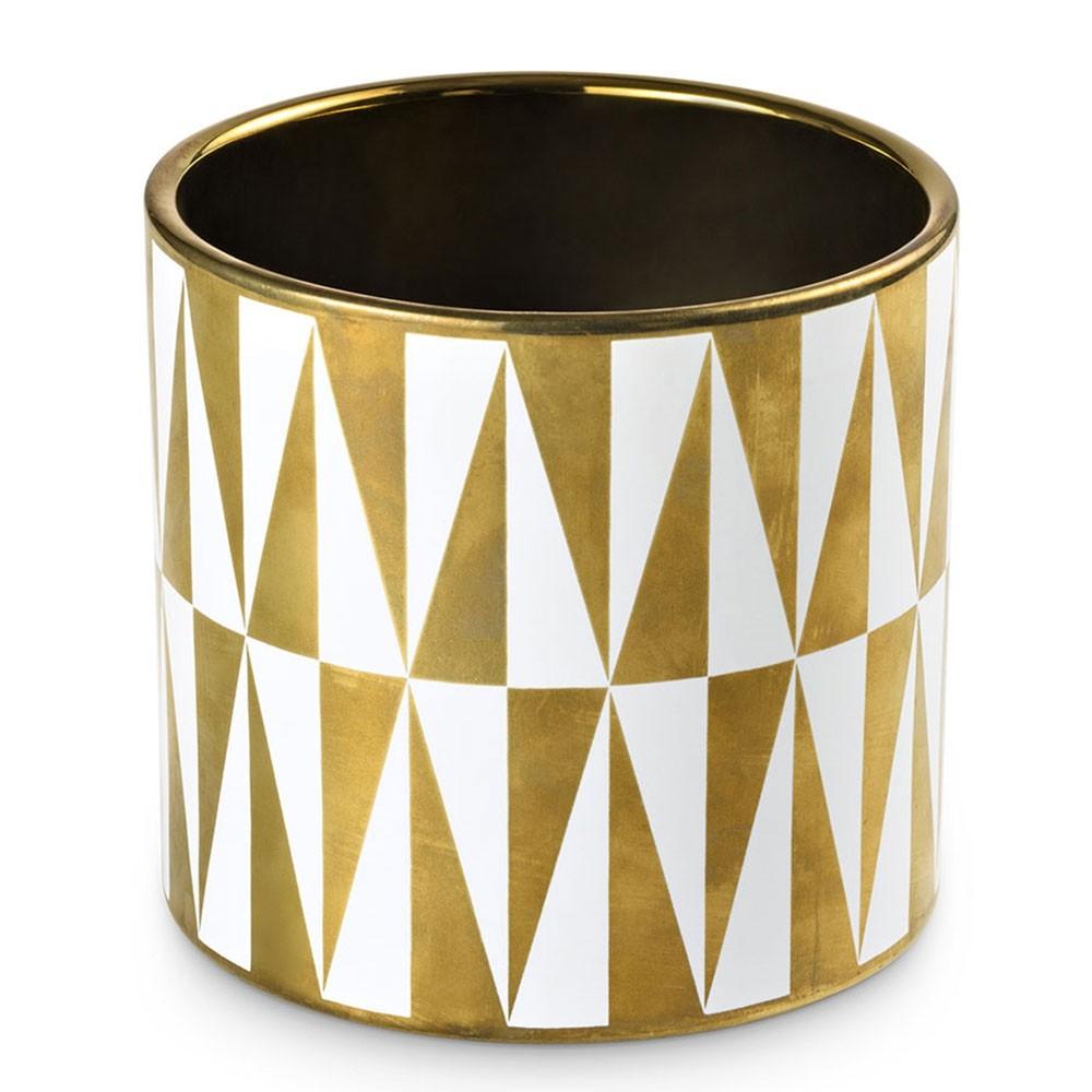 Cachepot Deco Gold 13,5 X 13,5 X 12,8 CM Bencafil - 153014