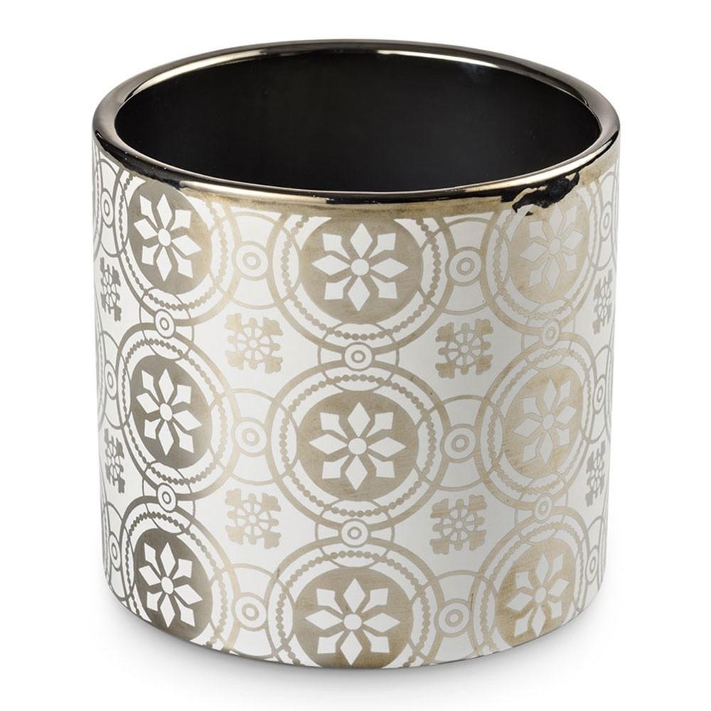 Cachepot Deco Silver 13,5 X 13,5 X 12,8 CM Bencafil - 153011