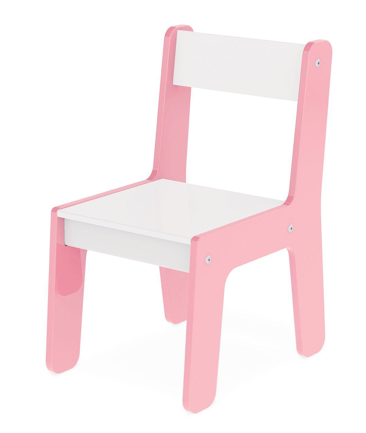 Cadeira Em Madeira Mdf Para Bebês E Crianças Infantil Rosa Junges - 980