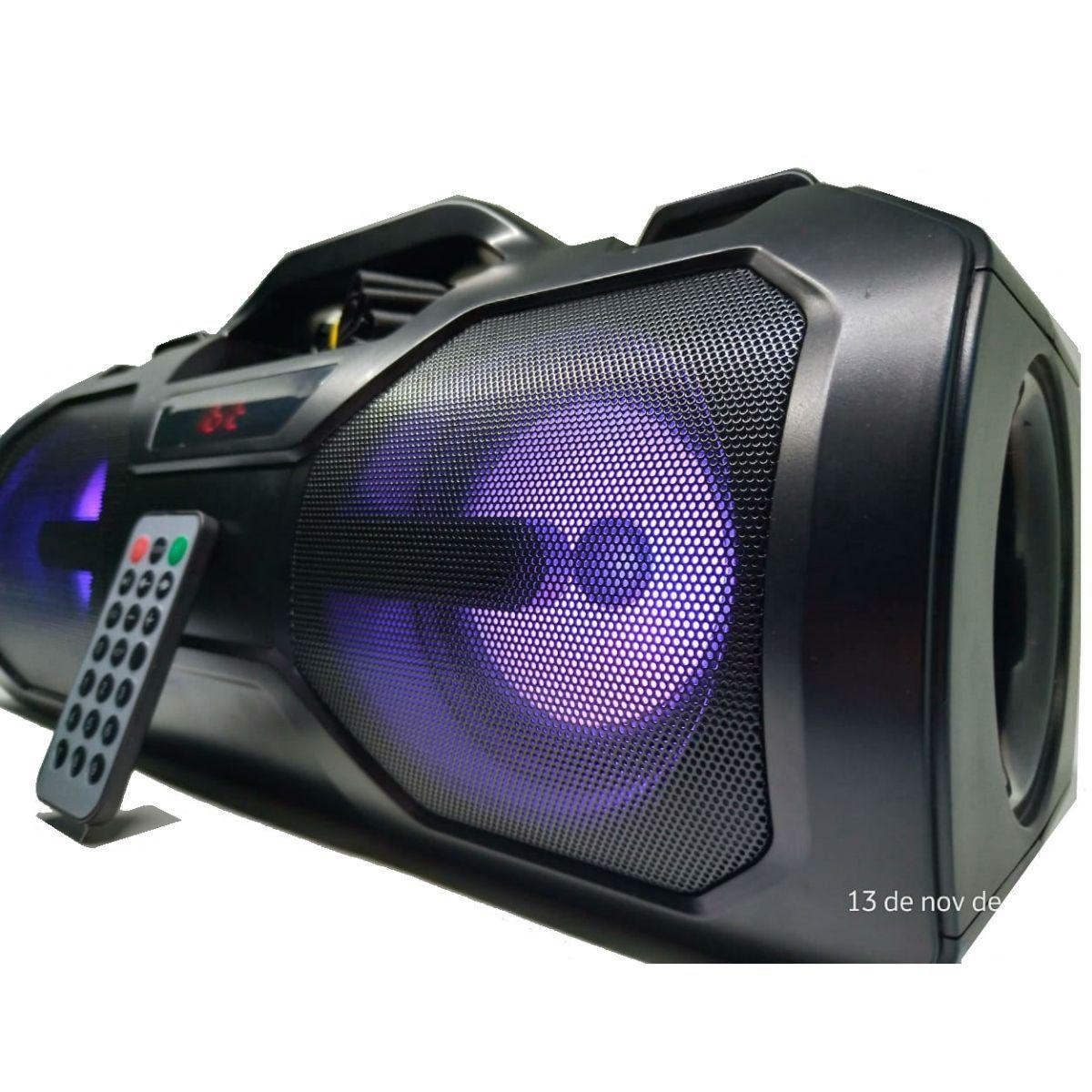 Caixa De Som 70dB Bluetooth FM Aux USB SD Com Controle E Alça - T2