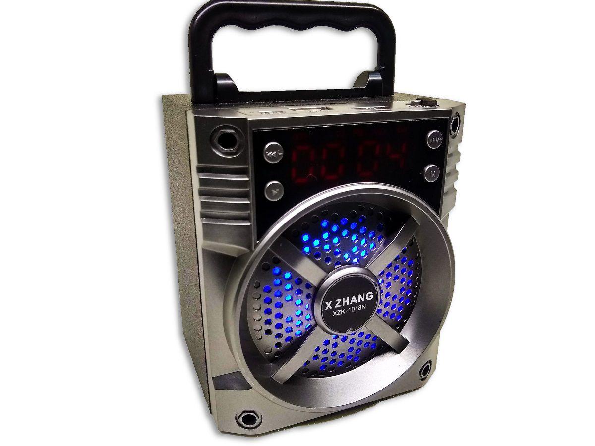Caixa de Som Portatil Com Luz Bluetooth - XZK-1018N