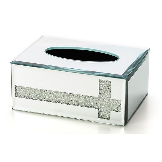 Caixa Lenços Glitter/Cristal 17 X 12,5 X 7 CM Bencafil - 29098