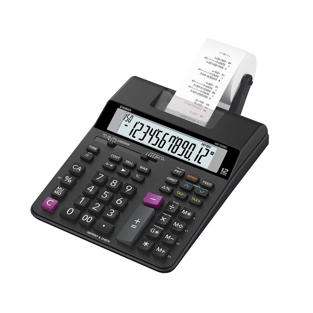 Calculadora Casio c/ impressora, 12 dígitos - HR-150RC