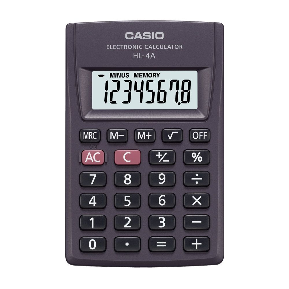 Calculadora Casio De Bolso 8 Dígitos e Desligamento Automático - HL-4A