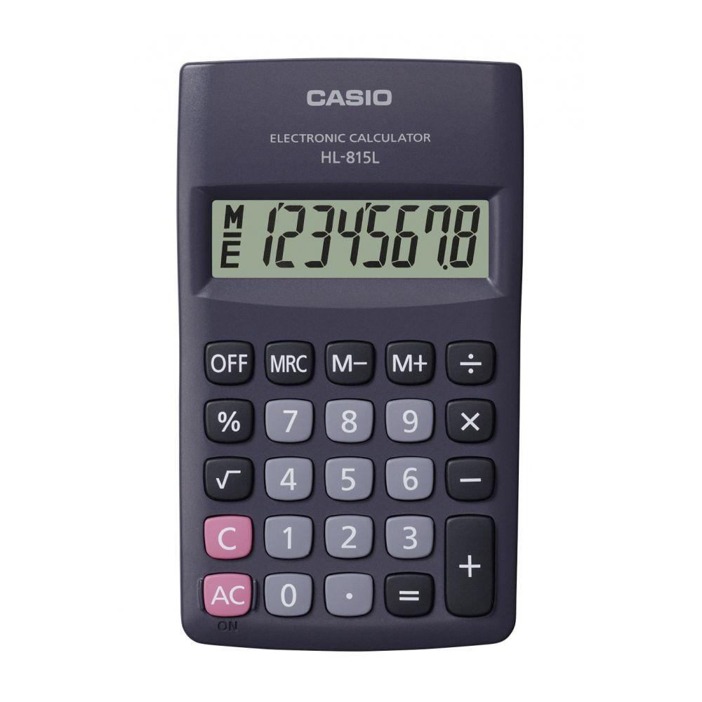 Calculadora Casio De Bolso Vertical C/ Visor 8 Dígitos - HL-815L-BK