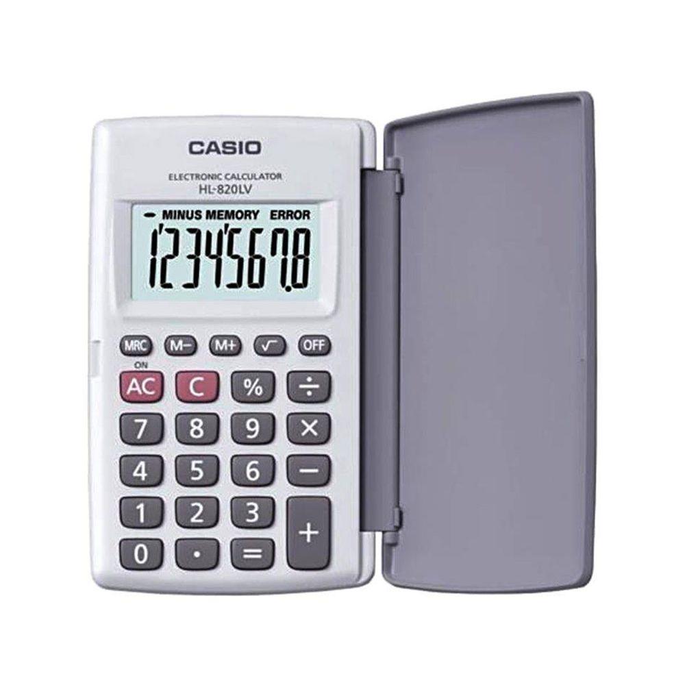 Calculadora Casio De Bolso, Visor XL, 8 Dígitos e Deslig. Automático - HL-820LV-WE