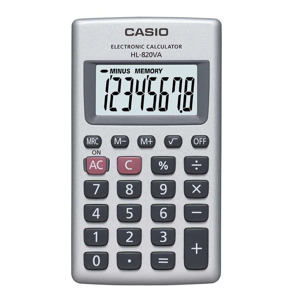 Calculadora Casio de bolso vertical, visor 8 dígitos - HL-820VA