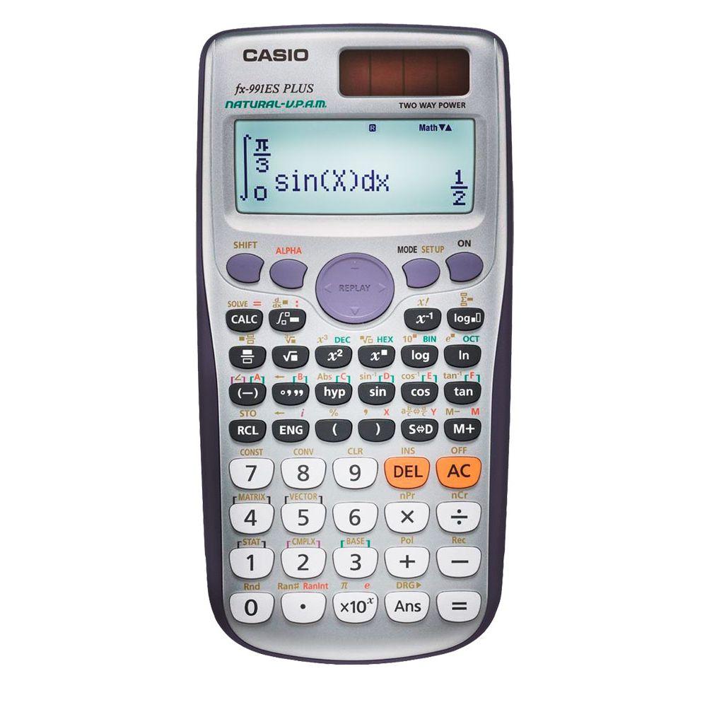 Calculadora científica Casio c/ 417 funções, visor de 4 linhas - FX-991ESPLUS