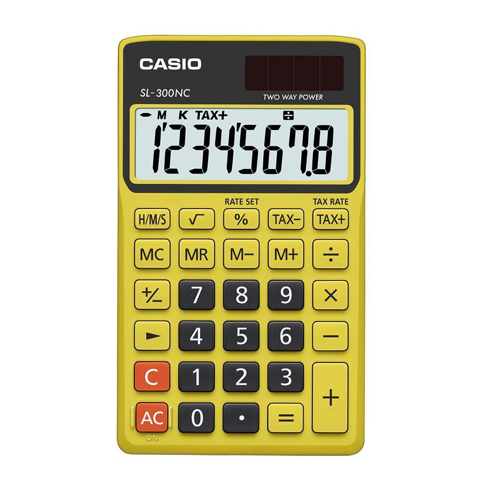 Calculadora Casio Portátil Color, Visor Xl, 8 Díg E Alimentação Dupla - SL-300NC