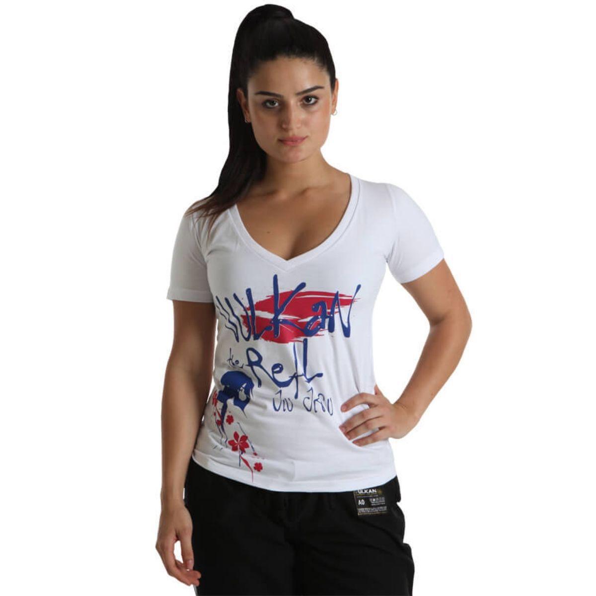 Camiseta Camisete Feminina Manga Curta Branca Tamanho G - Vulkan Jiu Jitsu