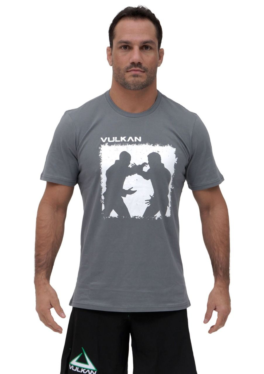 Camiseta Cinza Vulkan Jiu Jitsu Masculina - BEGIN CINZA