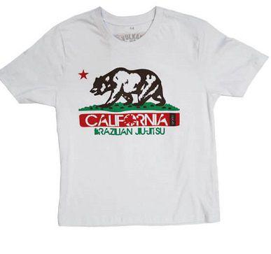 Camiseta Jiu Jitsu Branca Infantil Masculino Vulkan - CALI KIDS BRANCA