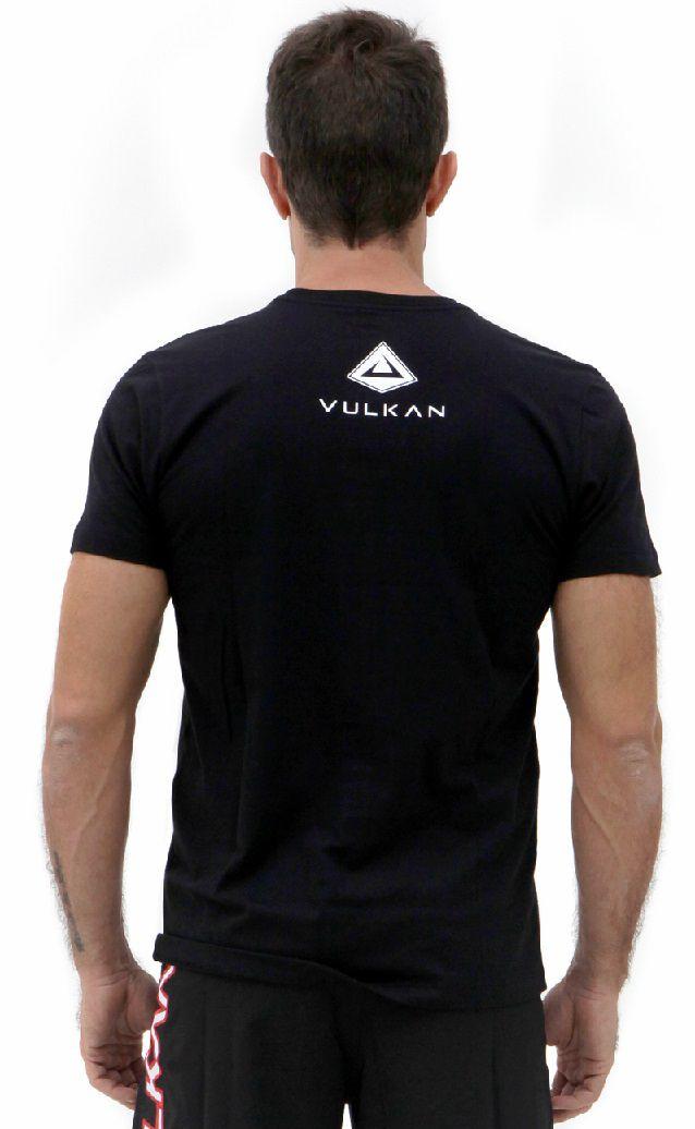 Camiseta Preta Vulkan Jiu Jitsu Masculina - VULKAN OSS