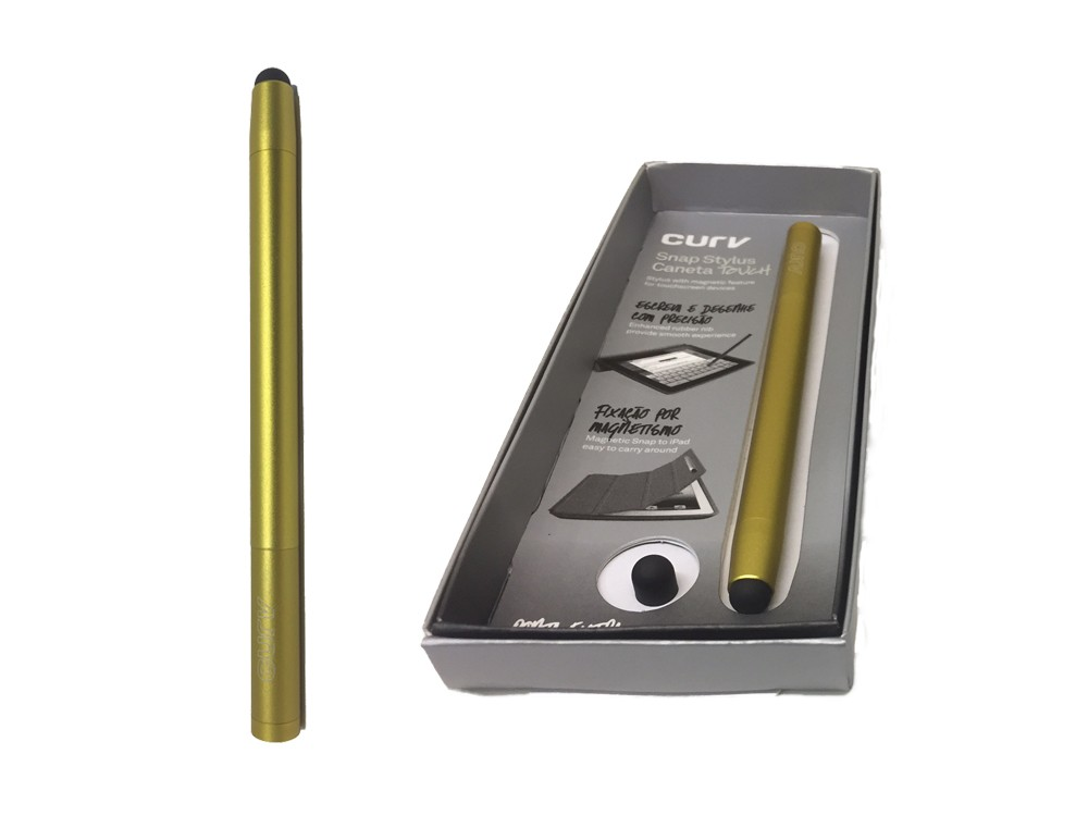 Caneta Touch Profissional Magnética - Curv Space Gold