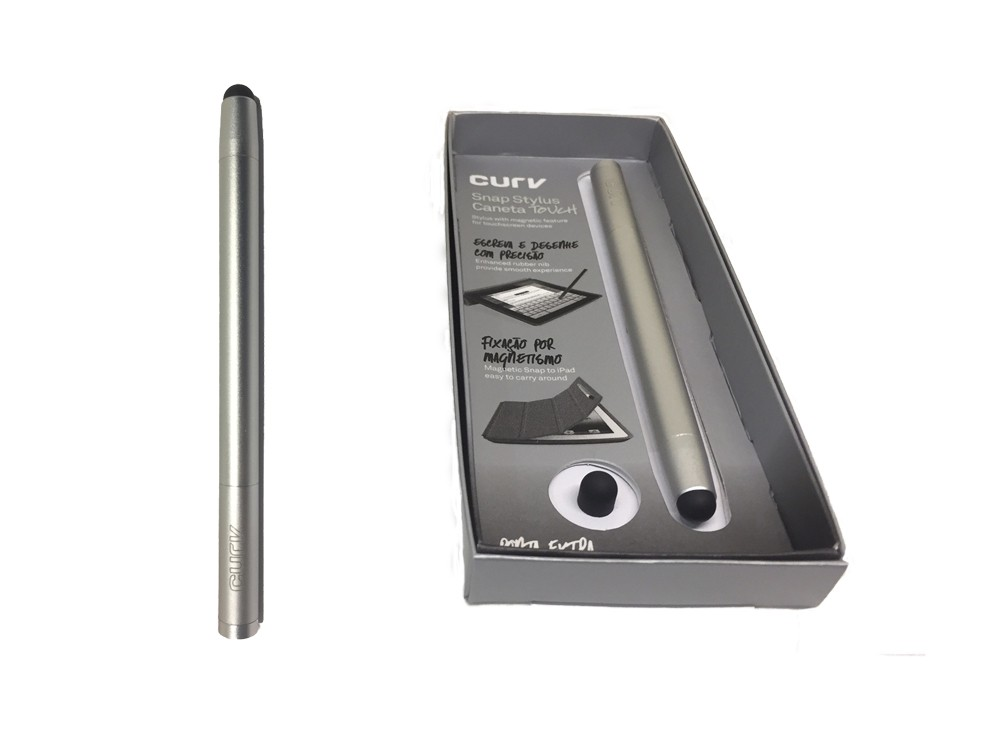 Caneta Touch Profissional Magnética Space Silver - Curv