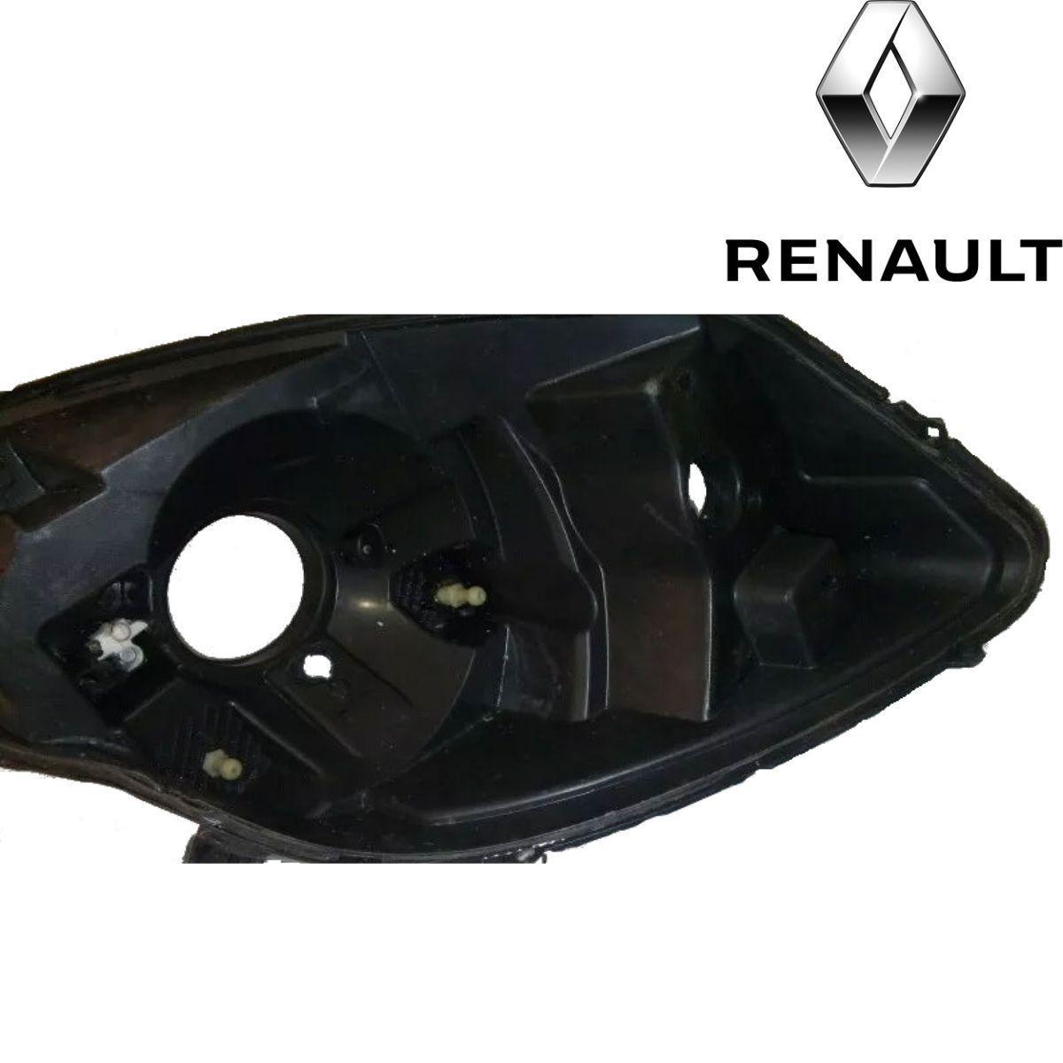 Carcaça De Farol Dianteiro Renault Sandero 2008 A 2011 Original Valeo USADA