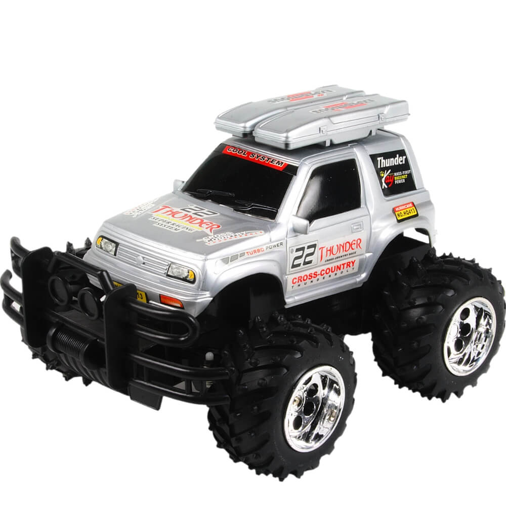 Carrinho de Controle Remoto Jeep Emocionante Com Bateria Recarregável e 4 Canais - HQ4013