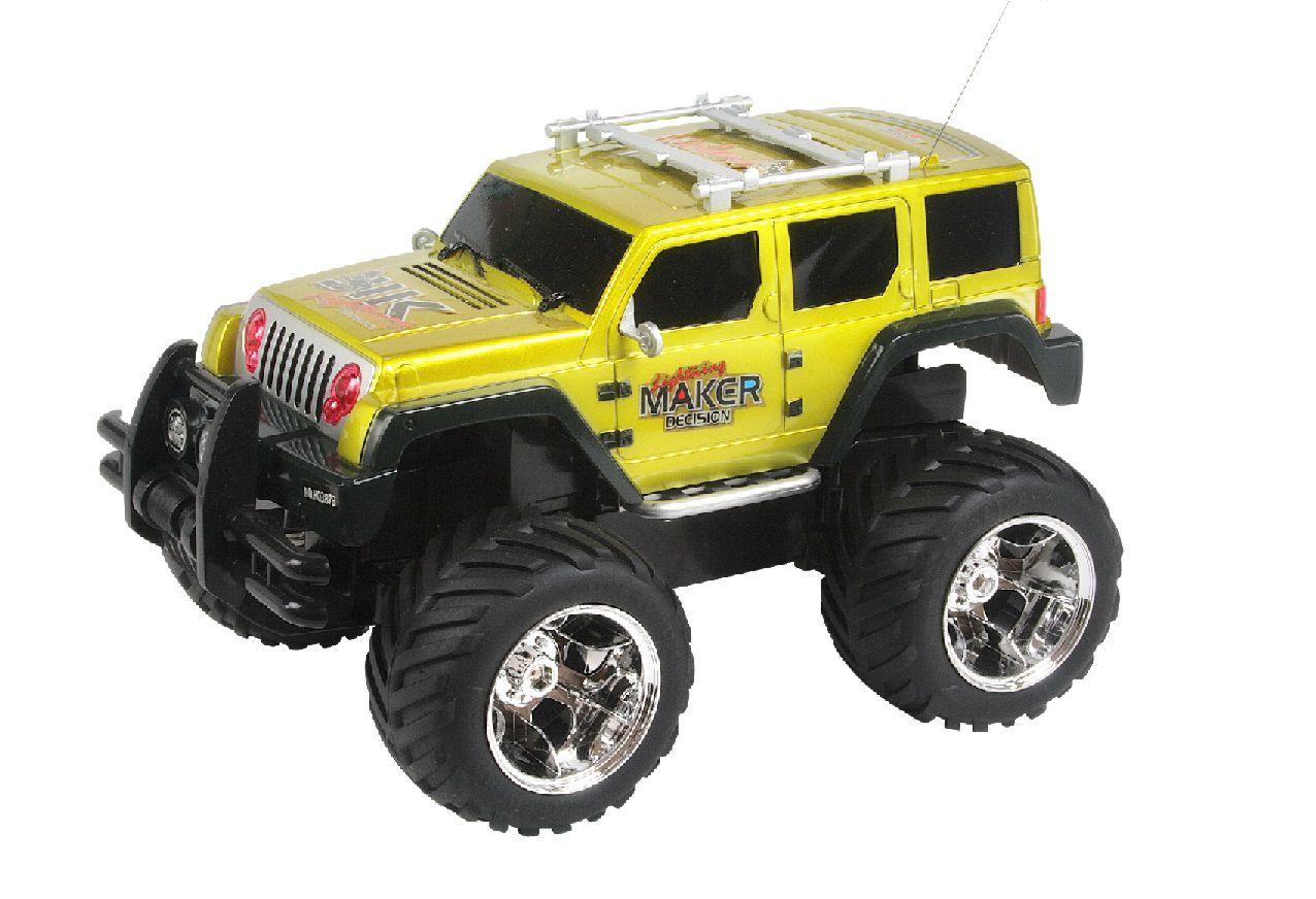 Carrinho de Controle Remoto Jeep Emocionante Com Bateria Recarregável e 4 Canais - HQ88