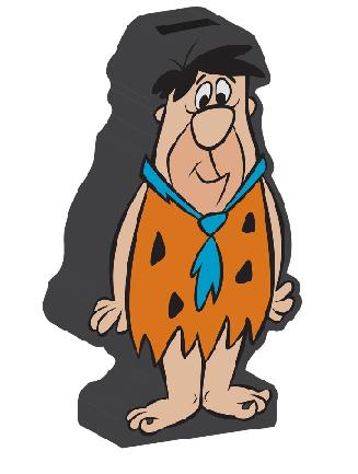 Cofre Ceram Hb Flintstones Fred Colordo 12,5 X - 44028592