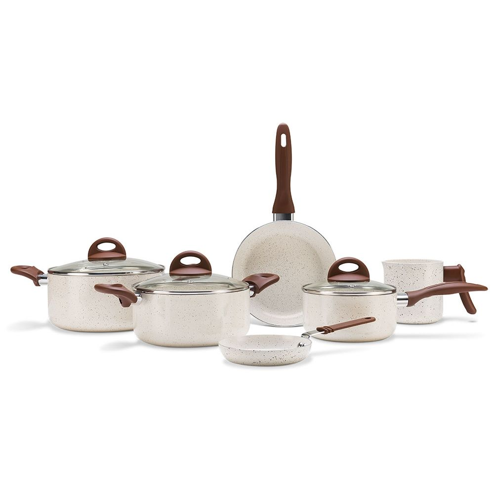 Conjunto Panelas 6 Peças, Ceramica Life Smart Plus Vanilla - 4791-102