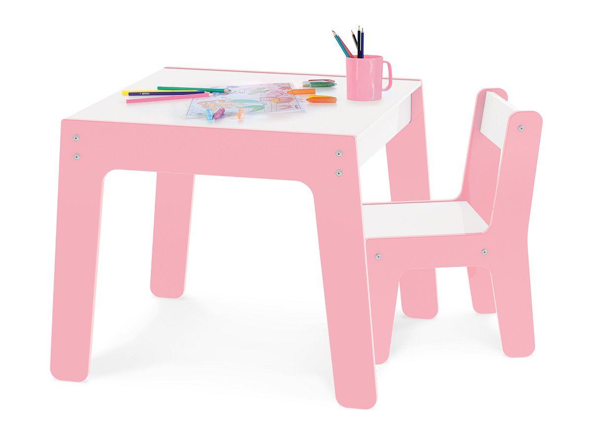 Conjunto de Mesa e Cadeira Infantil Junges