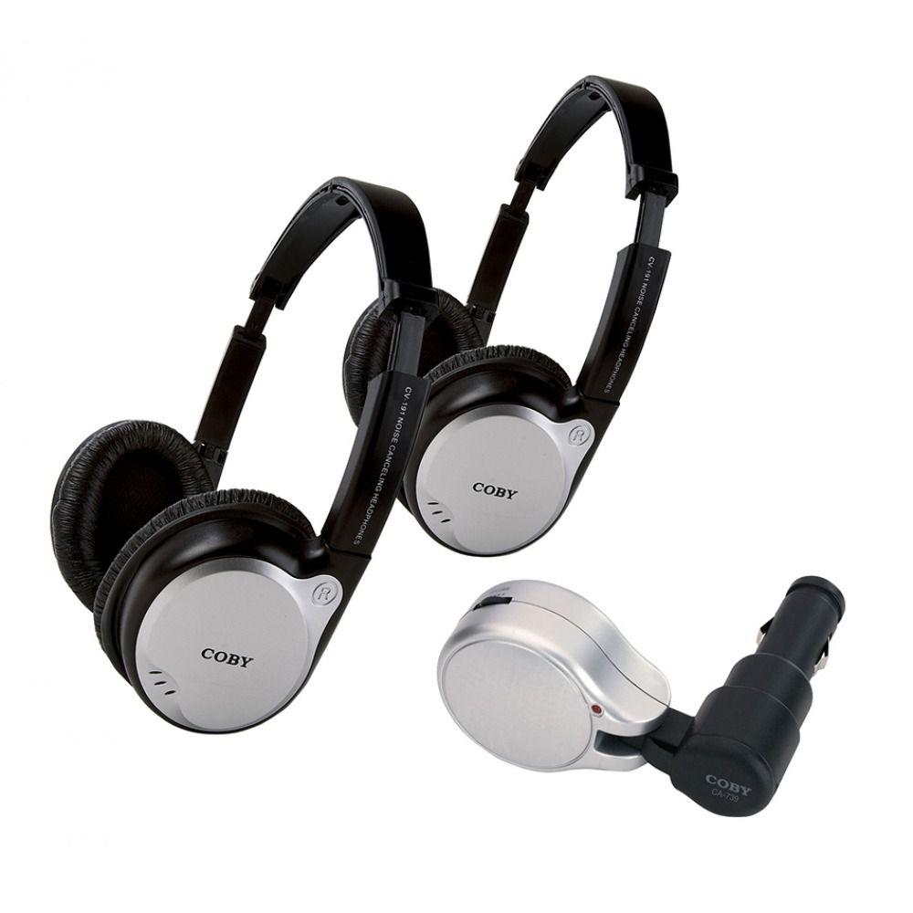 Conjunto Kit Coby Dois Fones Headphone Ajustáveis E Transmissor Sem Fio - Cv870