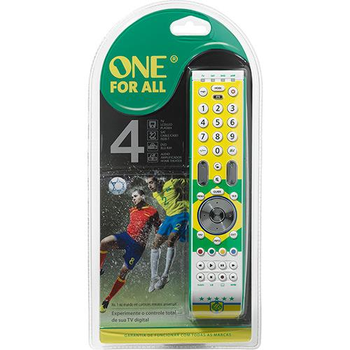 Controle Remoto Universal One For All Copa do Mundo Brasil Essence 4 - URC7342