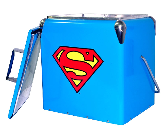 Cooler Metal Dc Superman Logo Azul - 75025212