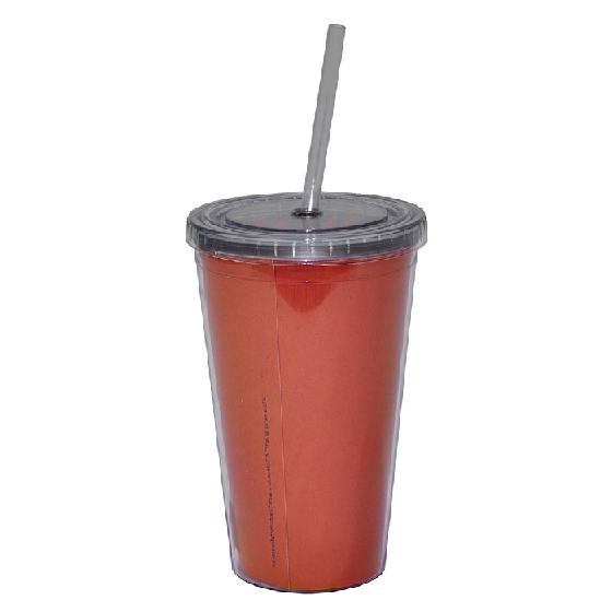 Copo Plástico Com Tampa E Canudo Hb Flintstones B - 75028123