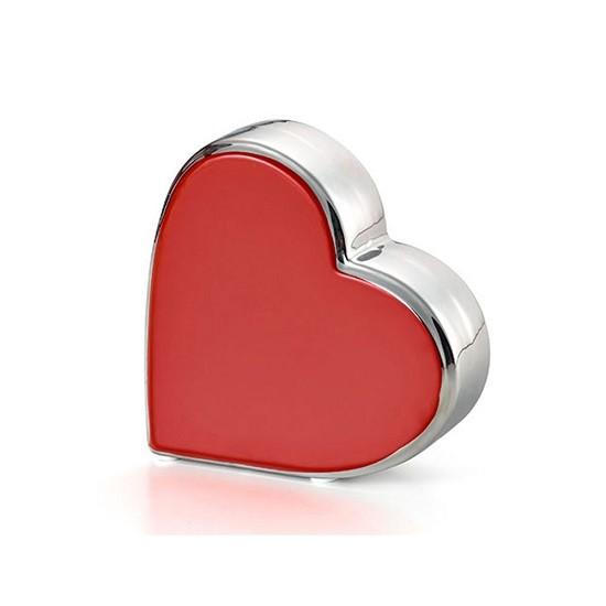 Coração Vermelho & Prata 12X4 X12 CM Bencafil - 27056