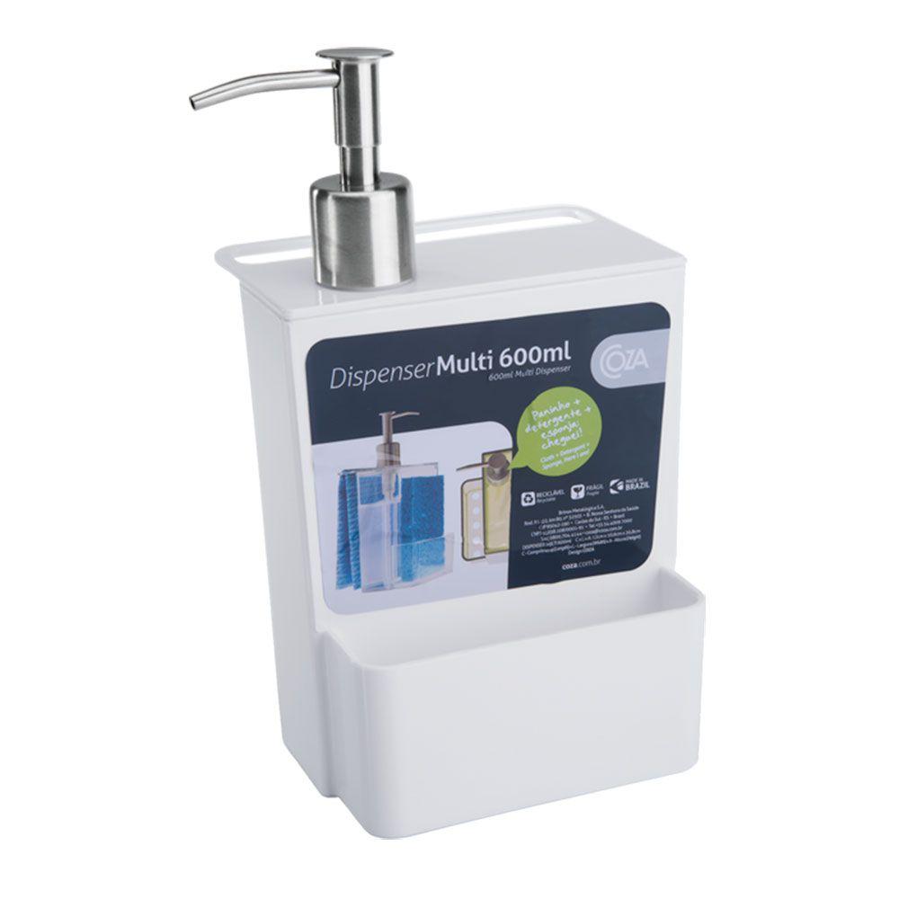 Dispenser Coza Multi 600ml Branco - 20719-0007