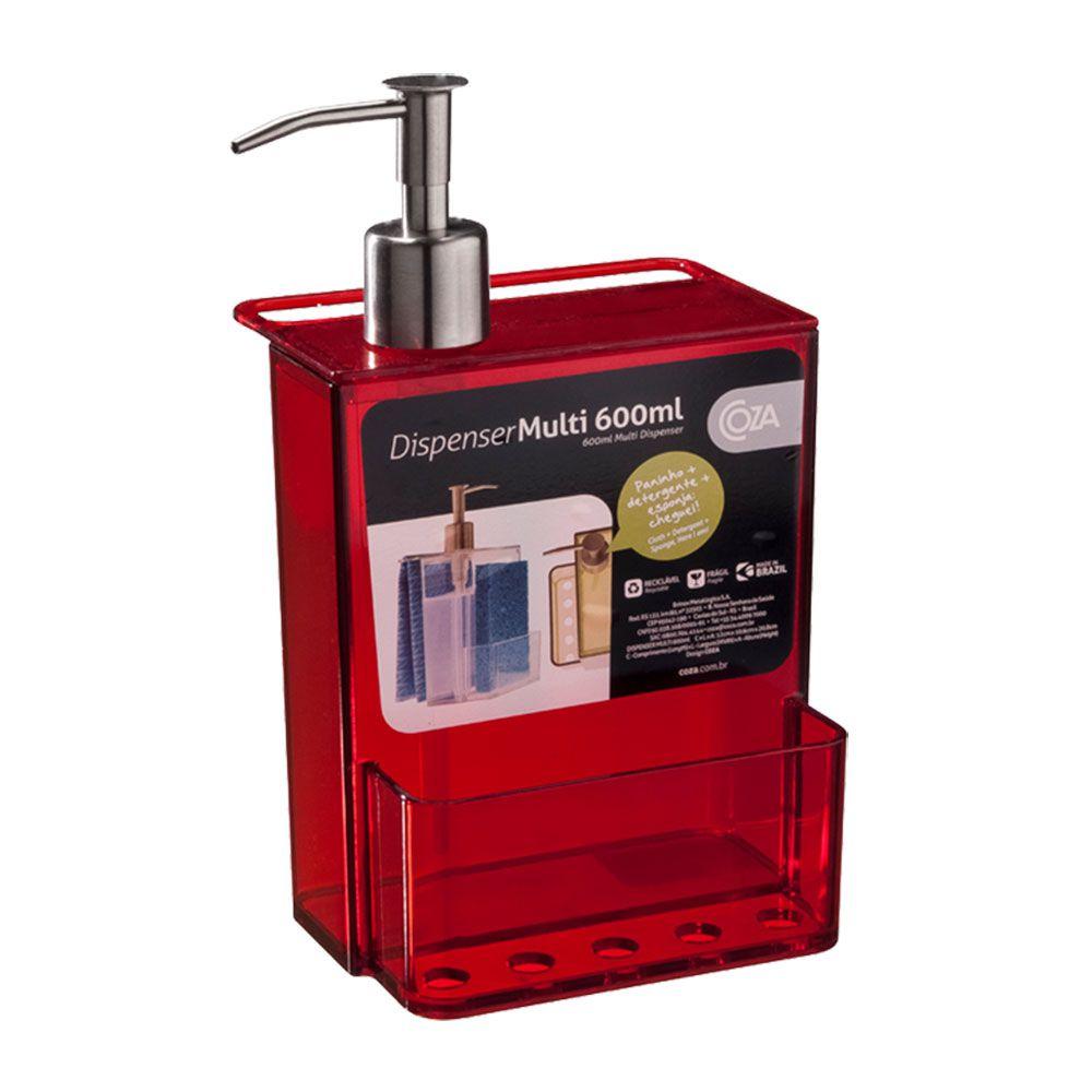 Dispenser Coza Multi 600ml Vermelho - 20719-0111