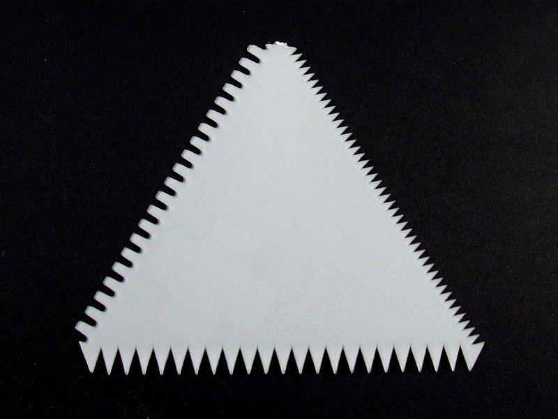 Espátula Plástico Triângulo 12 peças - 33.T