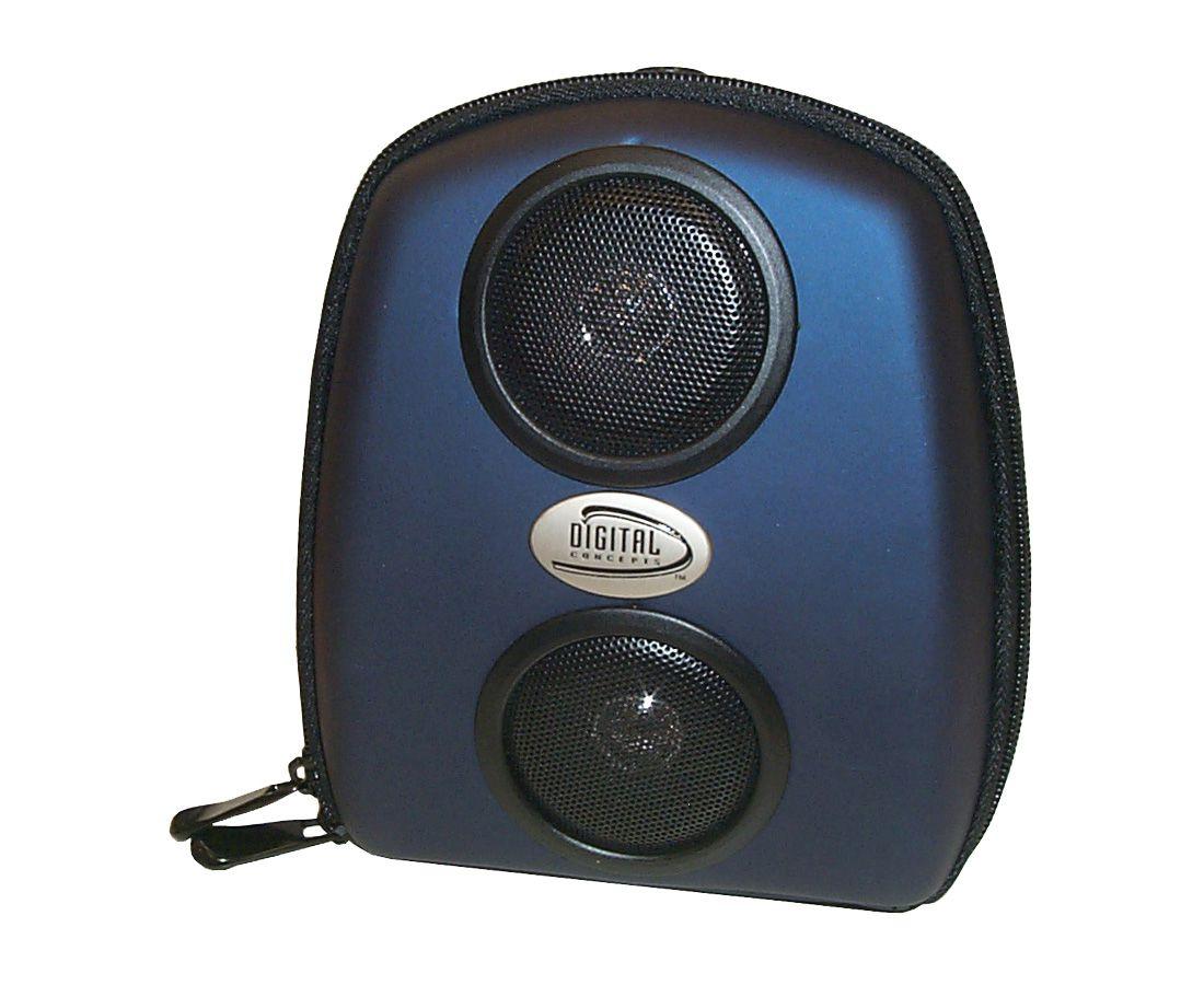 Estojo Para Cd Player Portátil Com 2 Alto-falantes Estéreo