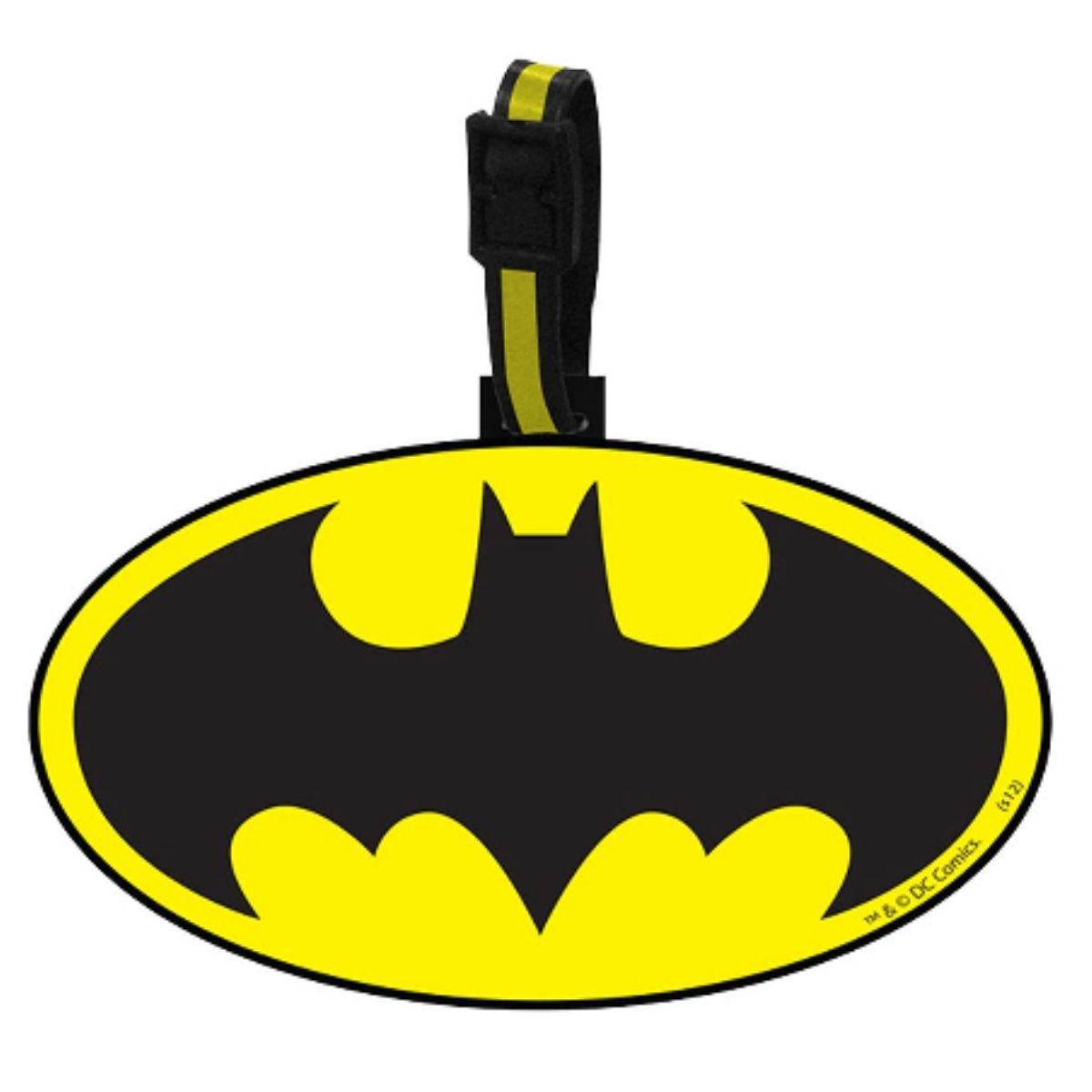 Etiqueta Para Mala Batman Dc Preto Amarelo 10 X - 68005459
