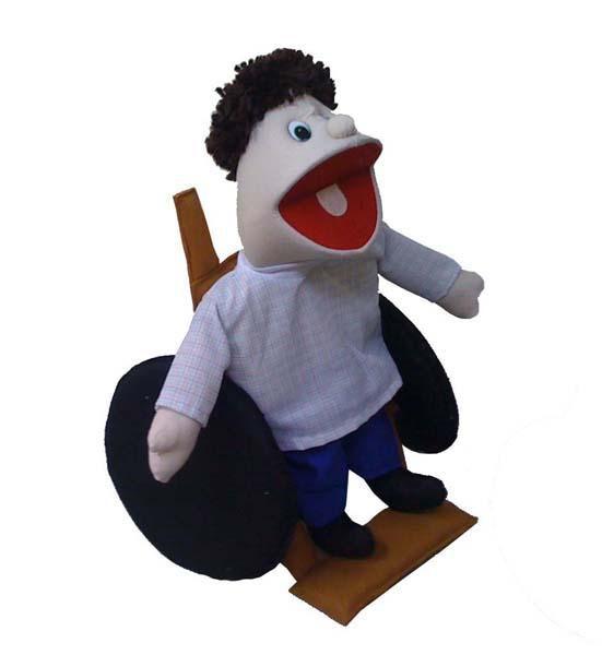 Fantoche Cadeirante - 1 Peça - Jodane 4010