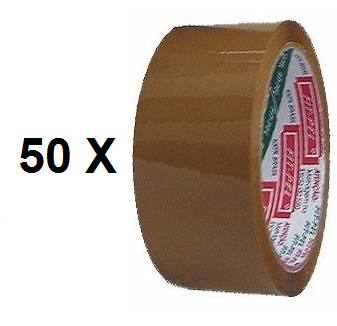 50 Fitas Adesiva Koretech 48mm x 45 Metros -  Marrom