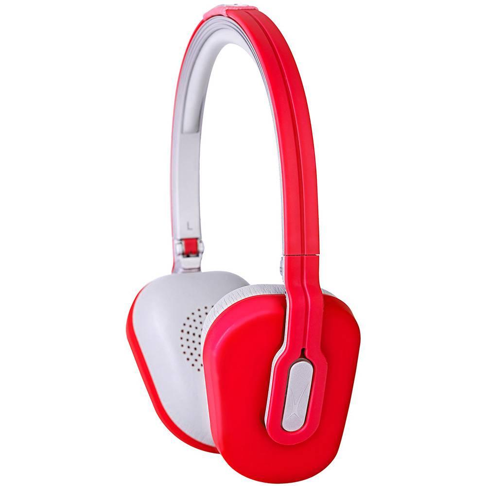 Fone de Ouvido Fashion Vermelho Dobrável com Microfone, Controle de Volume e Case - MZX662