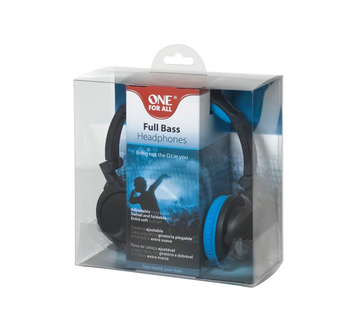 Fone De Ouvido Headphone One For All Estério Dobravél Full Bass DJ - SV5610