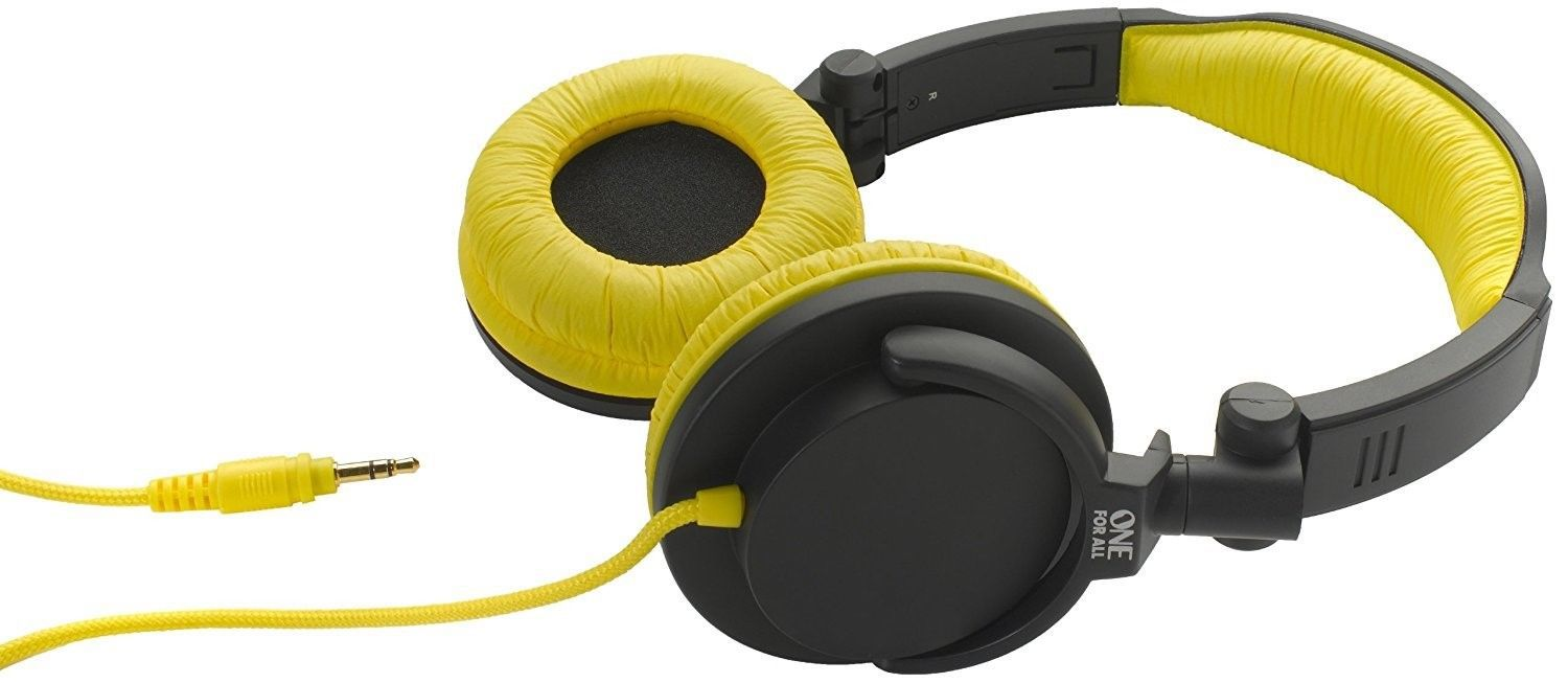 Fone De Ouvido One For All Headphone Estéreo Full Bass Dj Amarelo - Sv5612