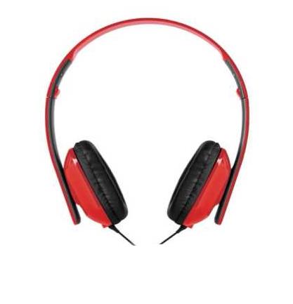 Fone De Ouvido Targus Headphone Dobrável Com Microfone Ta-41hp Vermelho