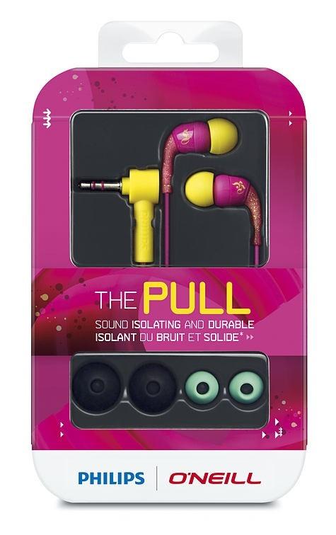Fone De Ouvido Philips Linha O'Neill Cor Pink E Lima - Sho1100