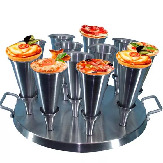 Forma Pizza Cone (12 Cones) Alumínio - 38.C12