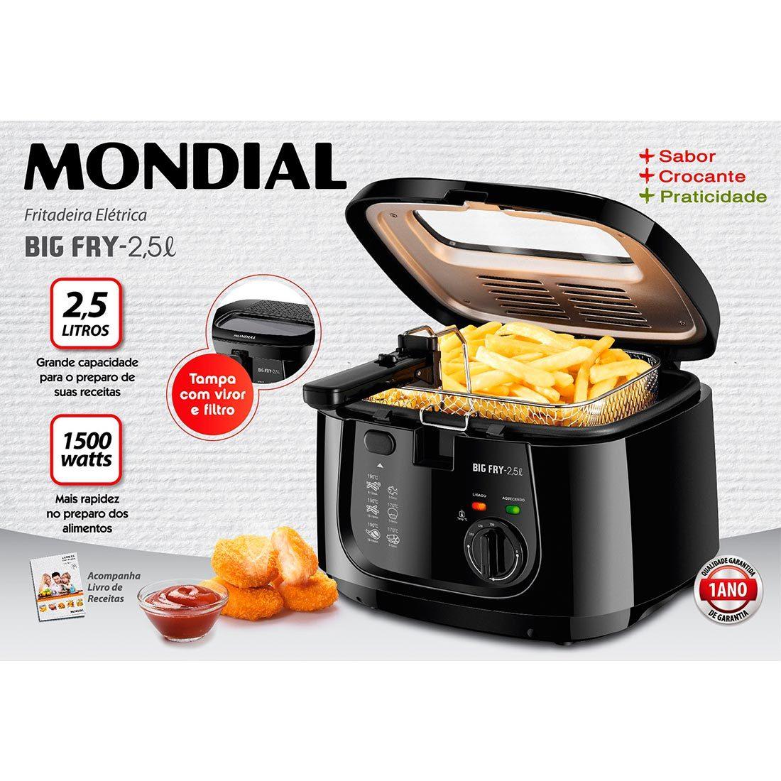 Fritadeira Eletrica Mondial Fast Fry - FT-07 110v