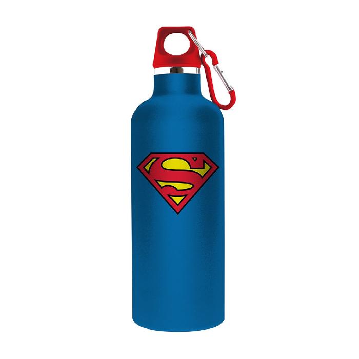 Garrafa Em Alumínio Dc Superman Logo Azul 7 X 26 - 75028219