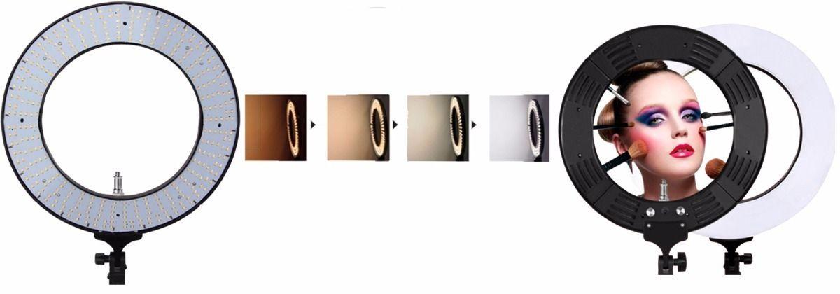 ILUMINADOR RING LED CIRCULAR REDONDO LIGHT DIAMETRO 45W GREIKA - RL12 BIVOLT