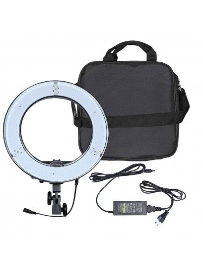 ILUMINADOR RING LED CIRCULAR REDONDO LIGHT DIAMETRO 45W GREIKA - RL12 BIVOLT
