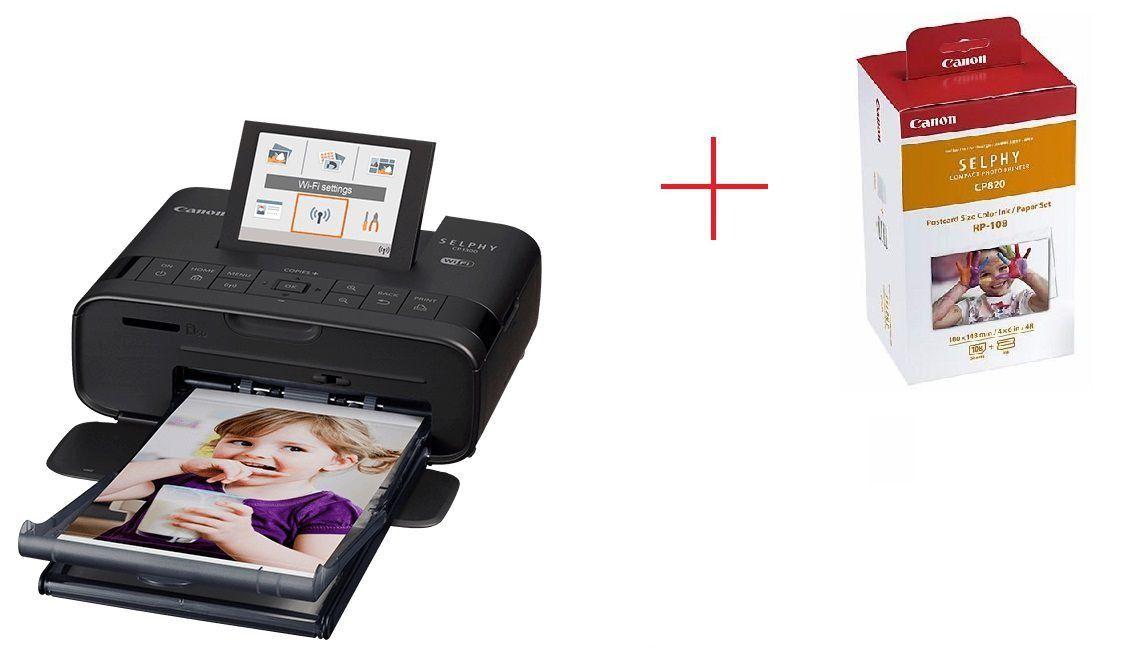 Impressora Fotográfica Canon Wifi + Kit Impressão - CP1300 + 2 KITS RP108